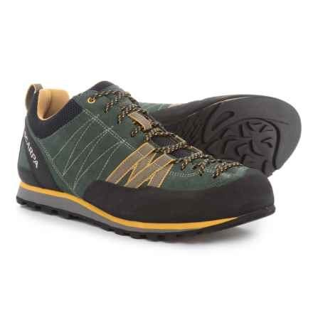 Scarpa Crux Hiking Shoes - Suede (For Men) in Lichen Green/Mustard - Closeouts