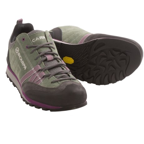 Scarpa Crux Light Hiking Shoes (For Women) in Shark/Berry
