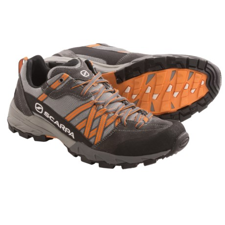 Scarpa Epic Trail Running Shoes - Recycled Materials (For Men) in Pewter/Orange