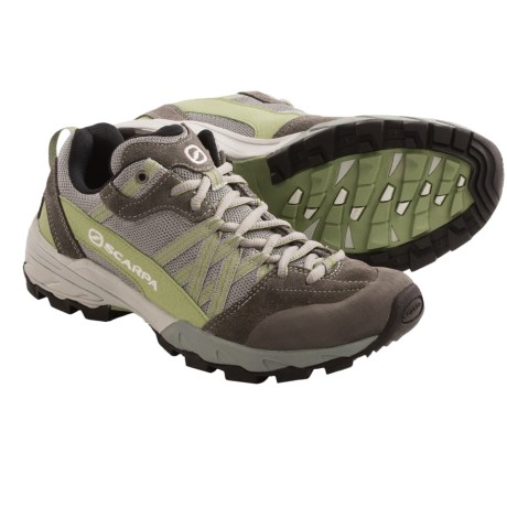 Scarpa Epic Trail Running Shoes - Recycled Materials (For Women) in Grey/Green