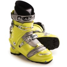 Scarpa F1 Alpine Touring Ski Boots - Dynafit Compatible (For Men and Women) in Lemon - Closeouts
