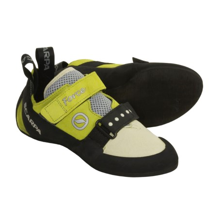 Scarpa Force Climbing Shoes (For Women) in Green Apple