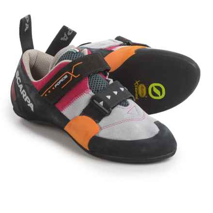 Scarpa Force X Climbing Shoes - Suede (For Women) in Lip Gloss - Closeouts