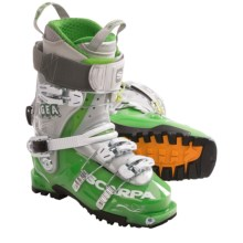 Scarpa Gea Alpine Ski Boots (For Women) in Green/Silver - Closeouts