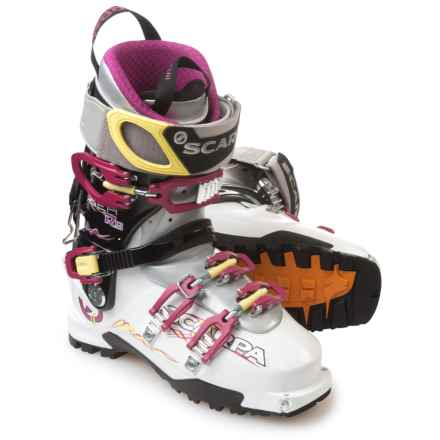 Scarpa Gea RS Alpine Touring Ski Boots (For Women) in White/Magenta/Lime - Closeouts