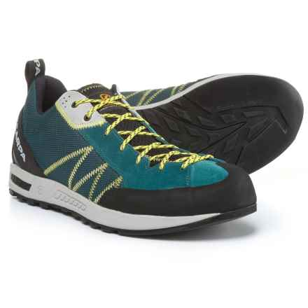 Scarpa Gecko Lite Hiking Shoes - Suede (For Men) in Lake Blue/Yellow - Closeouts
