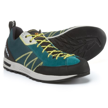 Scarpa Gecko Lite Hiking Shoes - Suede (For Men) in Lake Blue/Yellow