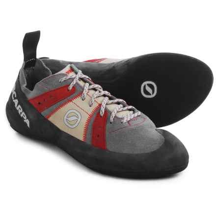 Scarpa Helix Climbing Shoes (For Men) in Smoke/Parrot - Closeouts