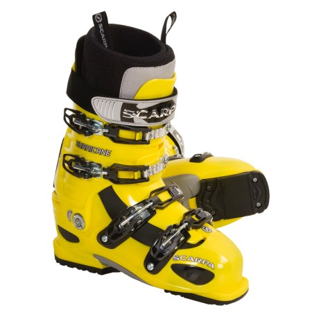 Scarpa Hurricane Freeride Ski Boots (For Men and Women) in Yellow