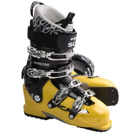 Scarpa Hurricane Pro AT Ski Boots (For Men) in Yellow
