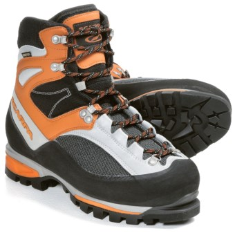 Scarpa Jorasses Pro Gore-Tex® Mountaineering Boots - Waterproof (For Men) in Black/Orange