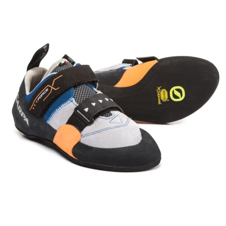 Scarpa Made in Italy Force X Climbing Shoes - Suede (For Men) in Ink Blue