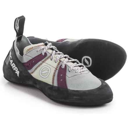 Scarpa Made in Italy Helix Climbing Shoes (For Women) in Pewter/Plum - Closeouts