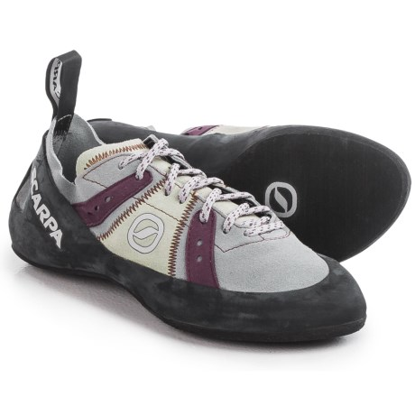 Scarpa Made in Italy Helix Climbing Shoes (For Women) in Pewter/Plum