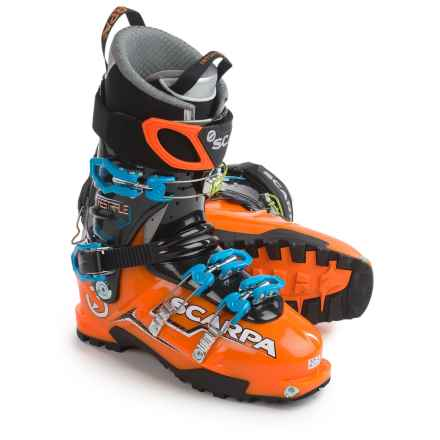 Scarpa Maestrale Alpine Touring Ski Boots (For Men) in Orange/Blue - Closeouts