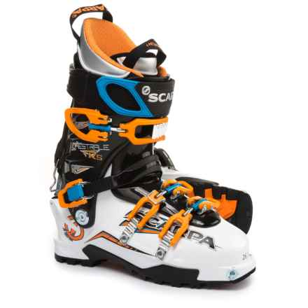 Scarpa Maestrale RS Alpine Touring Ski Boots (For Men) in White/Orange/Blue - Closeouts