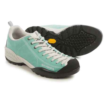 Scarpa Mojito 2015 Suede Approach Shoes (For Men and Women) in Green Blue - Closeouts