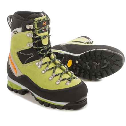 Scarpa Mont Blanc Gore-Tex® Suede Mountaineering Boots - Waterproof, Insulated (For Women) in Kiwi - Closeouts