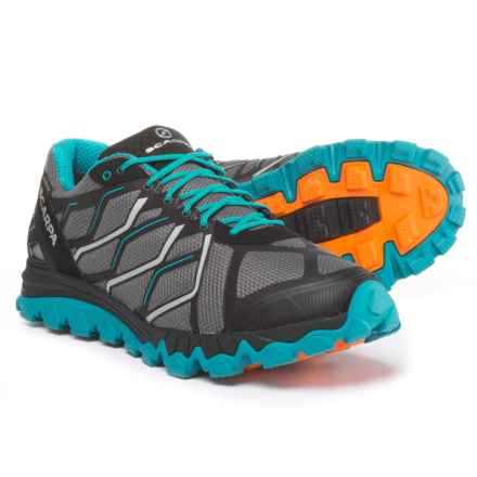Scarpa Proton Gore-Tex® Trail Running Shoes - Waterproof (For Men) in Gray/Abyss - Closeouts