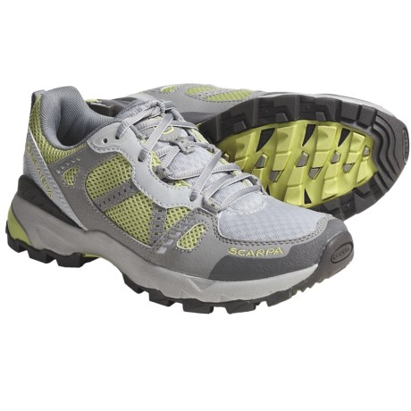 Scarpa Pursuit Trail Running Shoes (For Women) in Grey/Lemongrass
