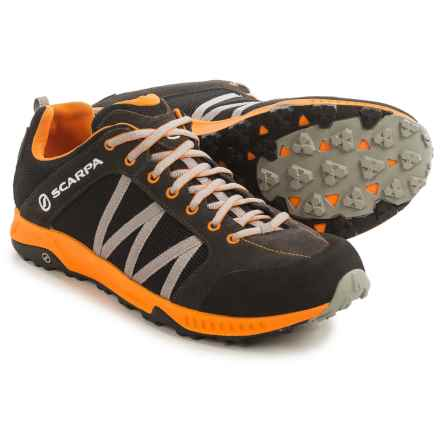 Scarpa Rapid LT Hiking Shoes (For Men) in Black/Orange - Closeouts