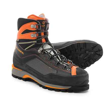 Scarpa Rebel Pro Gore-Tex® Mountaineering Boots - Waterproof, Insulated (For Men) in Black/Orange - Closeouts