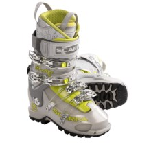 Scarpa Shaka Alpine Touring Ski Boots - Dynafit Compatible (For Women) in Silver - Closeouts