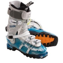 Scarpa Skadi Alpine Ski Boots - Dynafit Compatible (For Women) in Ice/Silver - Closeouts