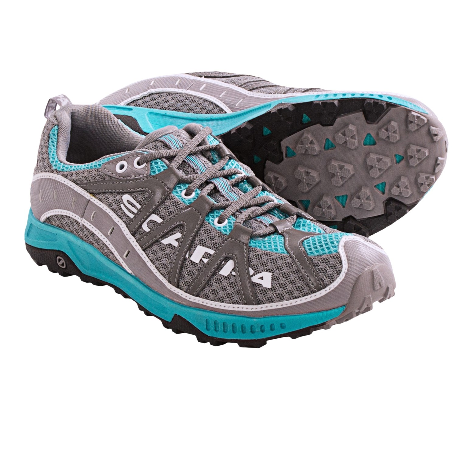 Scarpa Spark Trail Running Shoes (For Women) in Pewter/Turquoise