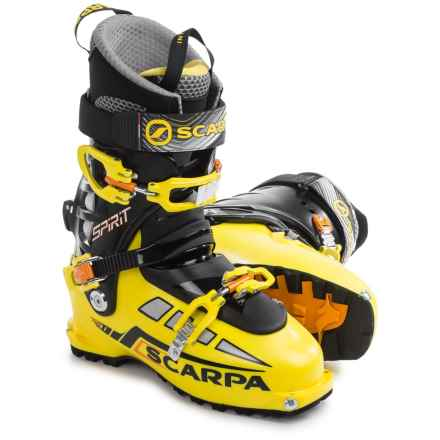 Scarpa Spirit 3 Thermo Alpine Touring Ski Boots - Dynafit Compatible (For Men and Women) in Yellow Fluorescent - Closeouts