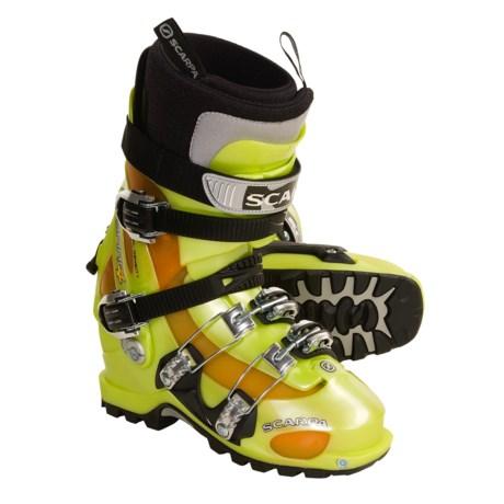 Scarpa Spirit 4 AT Ski Boots - Dynafit Compatible (For Men and Women) in Lemon