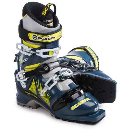 Scarpa T2 Eco Telemark Ski Boots (For Men) in Blue Graphite/Yellow - Closeouts