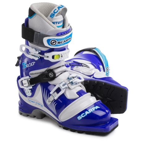 Scarpa T2 Eco Telemark Ski Boots (For Women) in Olympic/Light Grey