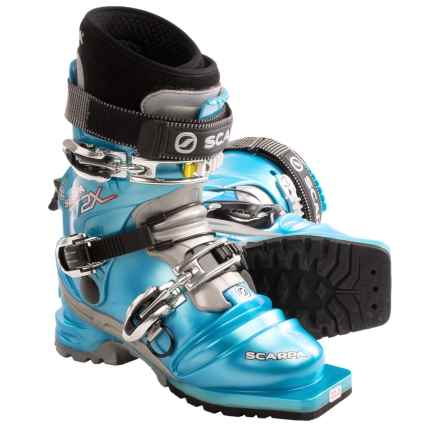 Scarpa T2X Thermo Telemark Ski Boots (For Women) in Blue Lite - Closeouts
