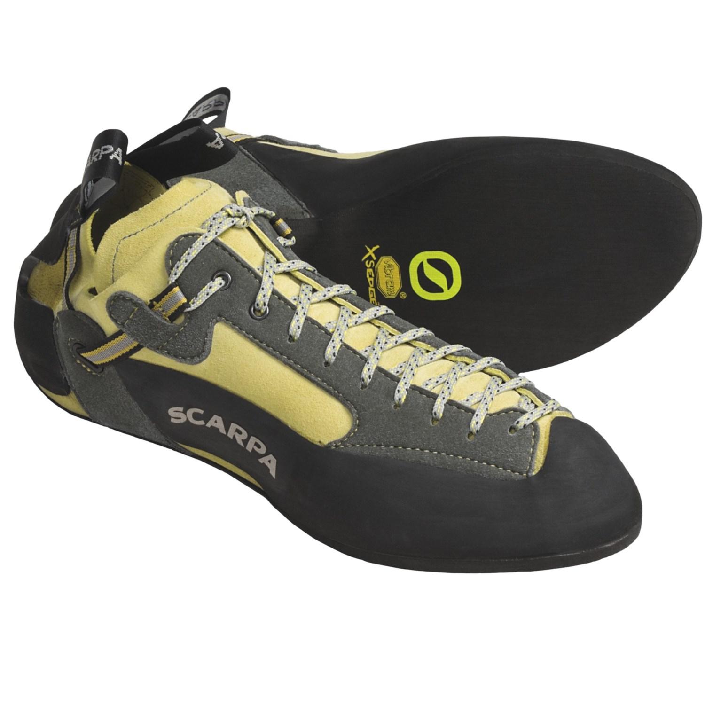 Scarpa Techno Climbing Shoes (For Men) in Ginko