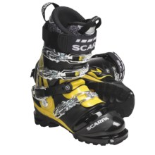 Scarpa Terminator X Pro Telemark Ski Boots - Dynafit Compatible (For Men and Women) in Black/Yellow - Closeouts