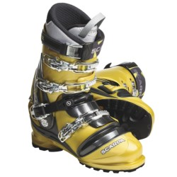 Scarpa TX Comp Telemark Ski Boots - NTN (For Men and Women) in Saffron/Anthracite