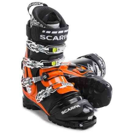 Scarpa TX Pro Telemark Ski Boots (For Men) in Black/Mango - Closeouts