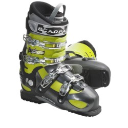 Scarpa Typhoon AT Ski Boots (For Men and Women) in Anthracite/Apple Green