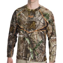 Scent-Lok® BaseSlayer Carbon Alloy Camo Top - Midweight (For Big Men) in Realtree Ap - Closeouts