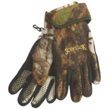 Scent-Lok® Timberfleece Carbon Alloy Bowhunter Release Gloves (For Men) in Vertigo Grey - Closeouts