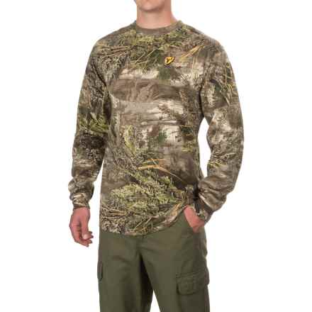 ScentBlocker Crew Neck Shirt - Long Sleeve (For Men) in Realtree Max-1 - Closeouts