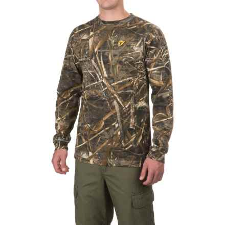 ScentBlocker Crew Neck Shirt - Long Sleeve (For Men) in Realtree Max-5 - Closeouts