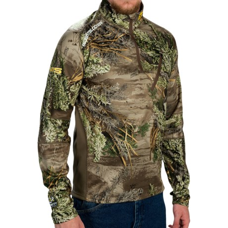 ScentBlocker NTS Camo Base Layer Top Zip Neck, Long Sleeve (For Men)