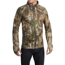 ScentBlocker NTS Camo Base Layer Top - Zip Neck, Long Sleeve (For Men) in Realtree Xtra - Closeouts
