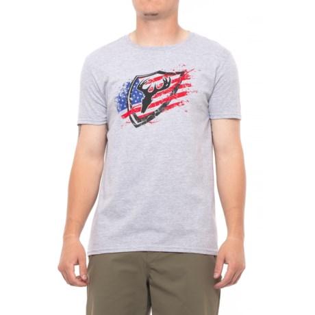 ScentBlocker Patriotic T-Shirt - Short Sleeve (For Men) in Grey