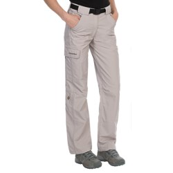 Schoffel Outdoor Roll-Up Pants - Short, UPF 50+, Water Repellent (For Women) in Stone Grey
