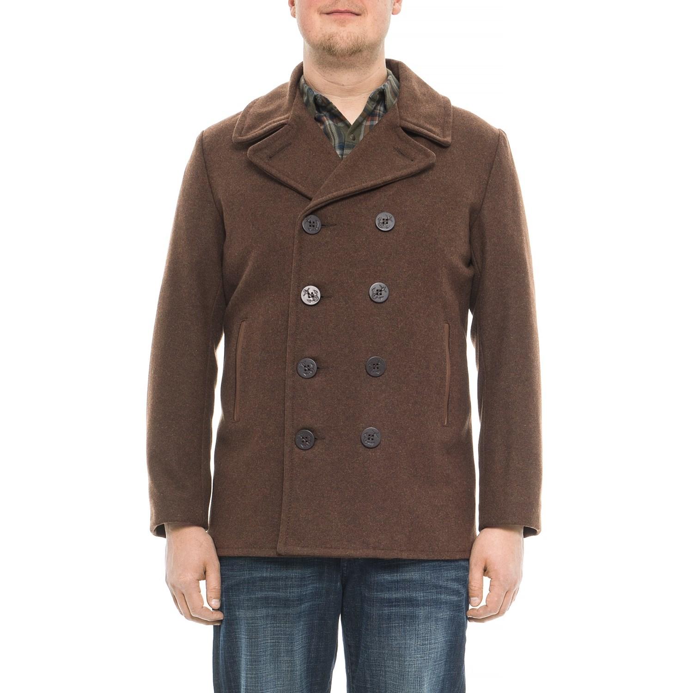 6348ca9acbb Schott wool peacoat for men in brown jpg 1500x1500 Navy pea coat schott
