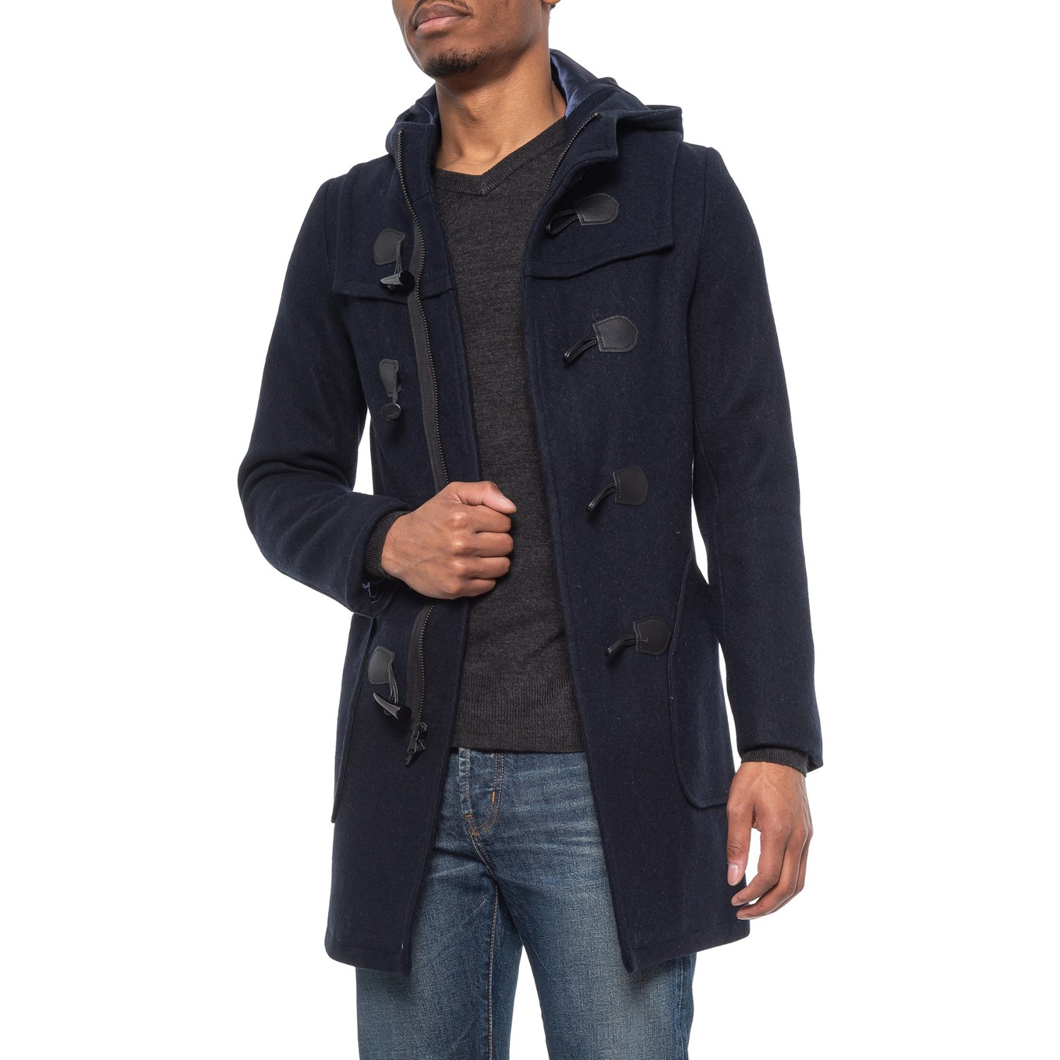 Schott NYC Satin Lined Wool Duffle Coat (For Men) Save 64%