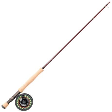 Scientific Anglers Ampere Fly IV Rod and Reel Outfit with Tube - 4-Piece, 9' in Black